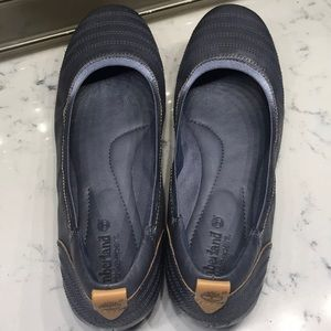 Timberland leather flats  blue grey color   9